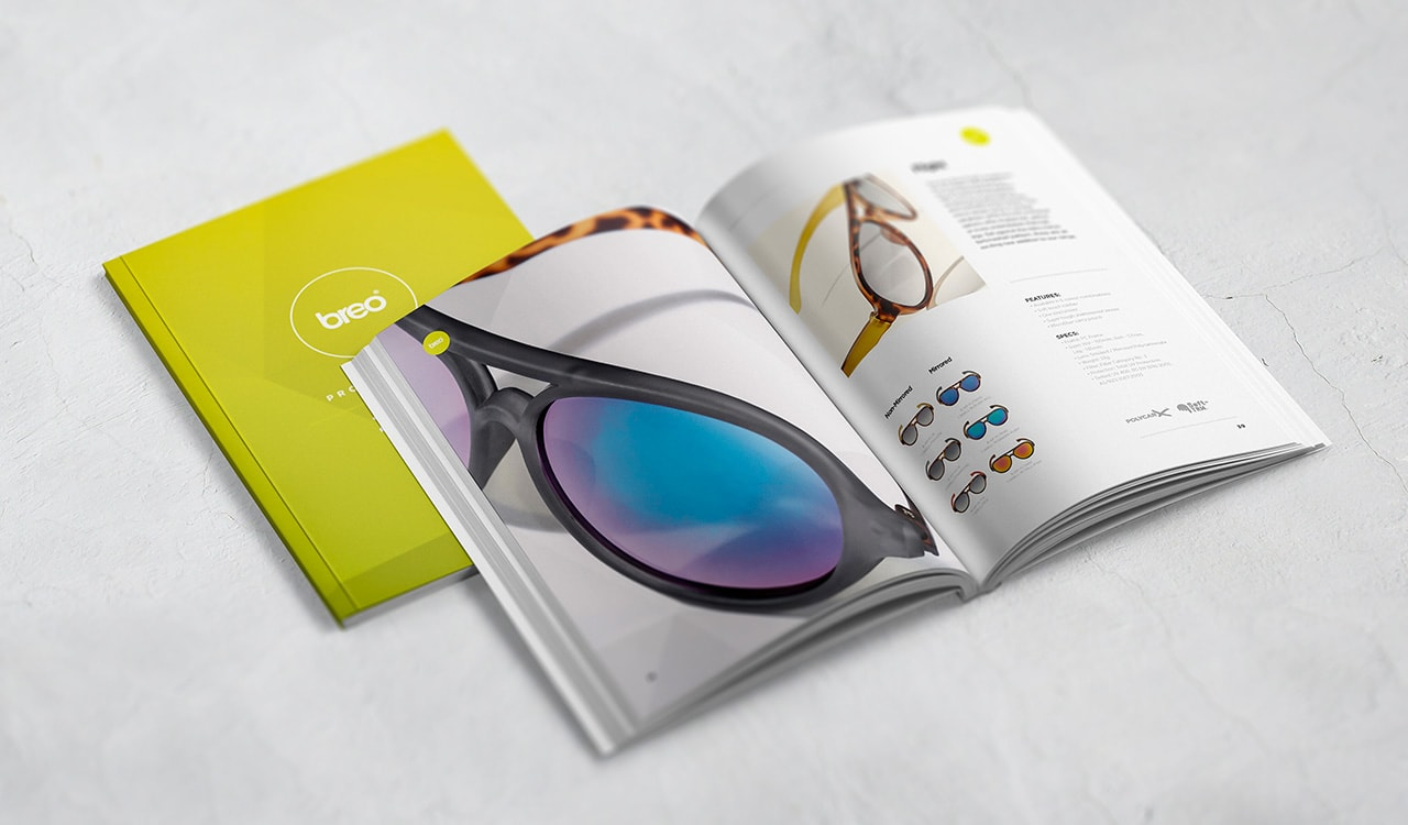 Breo Brochure Design Sunglasses