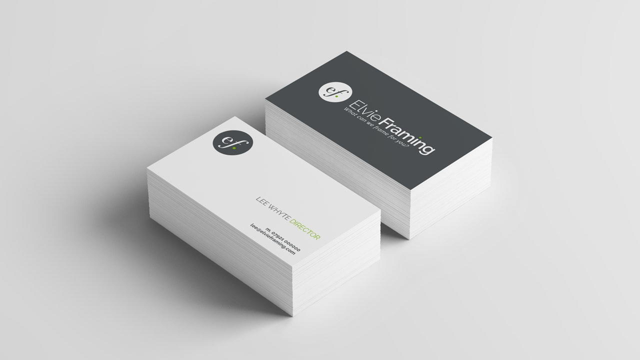 Elvie Framing Business Card Design