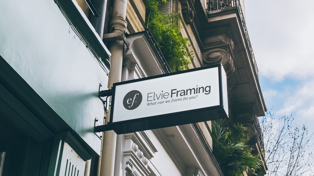 Elvie Framing Exterior Signage