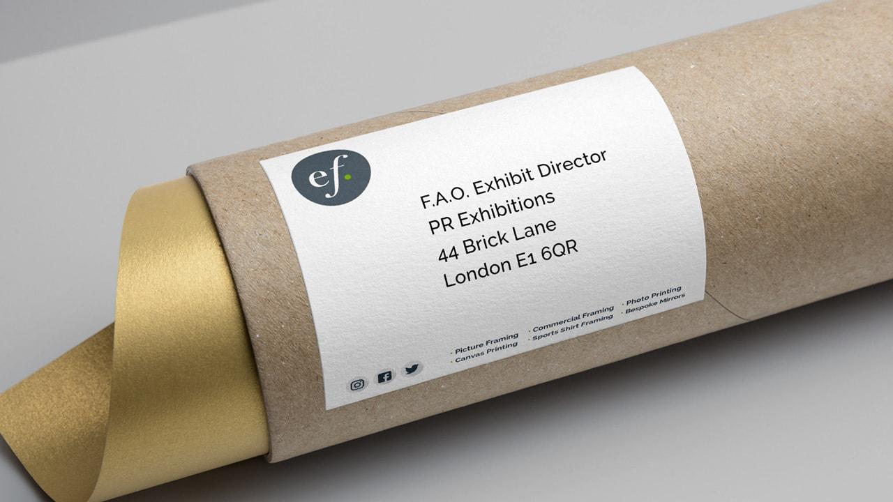 Elvie Framing Label Design