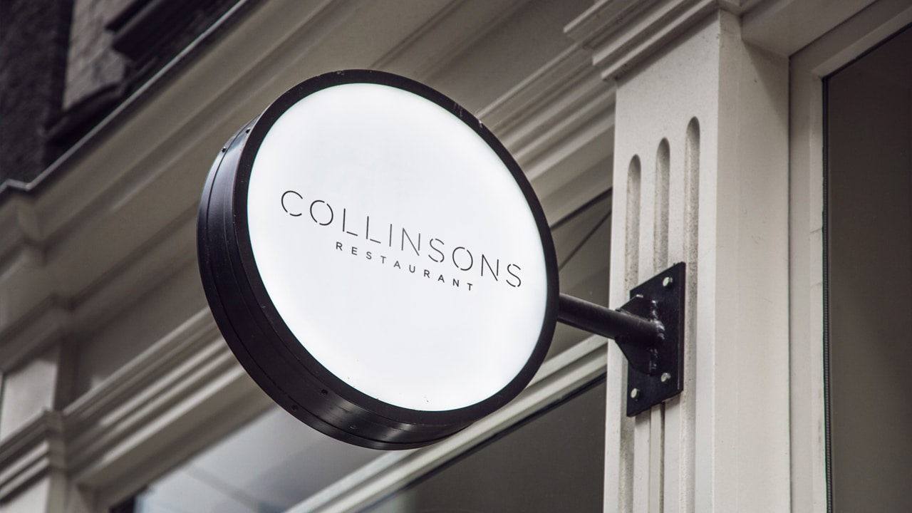 Collinsons Restaurant - Signage Design