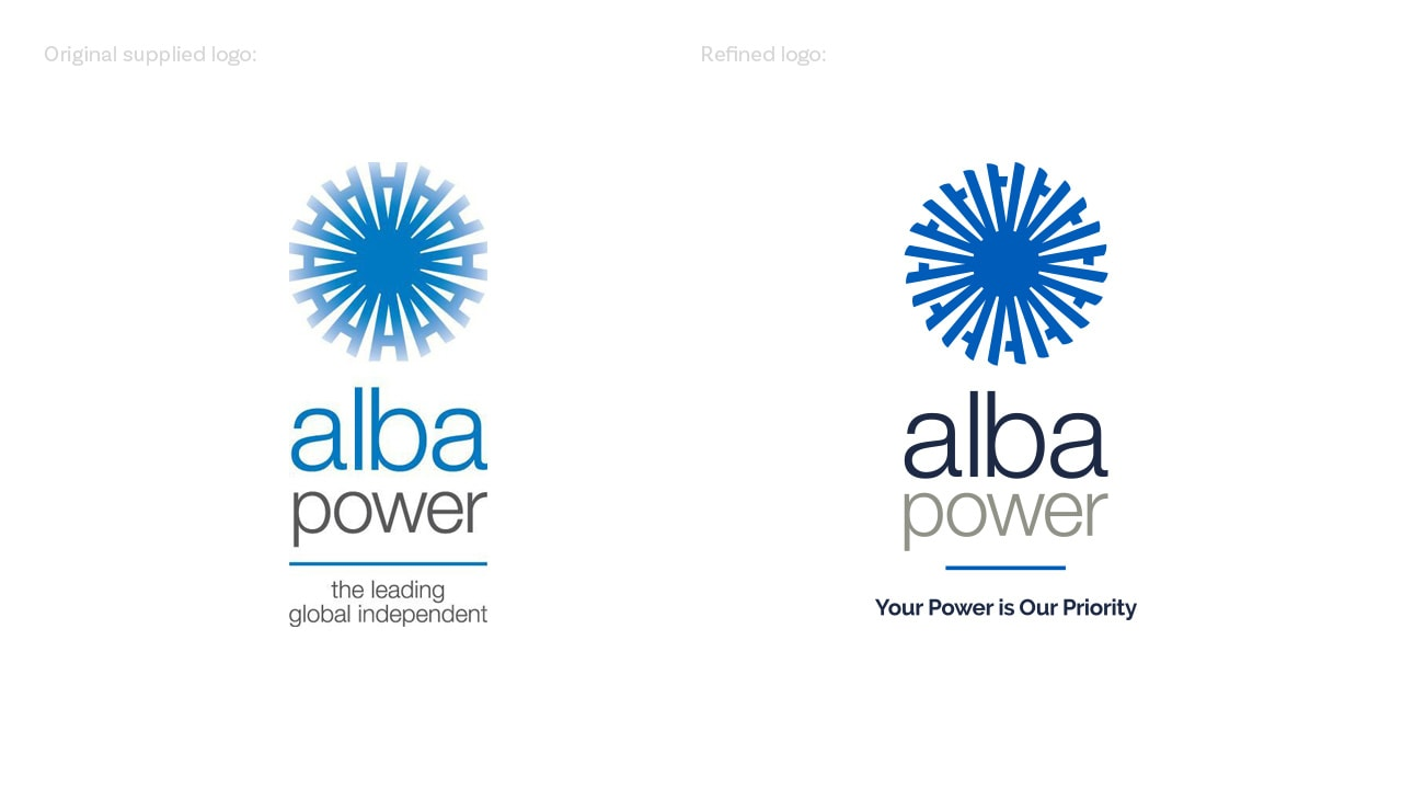 Alba Power Logo Design
