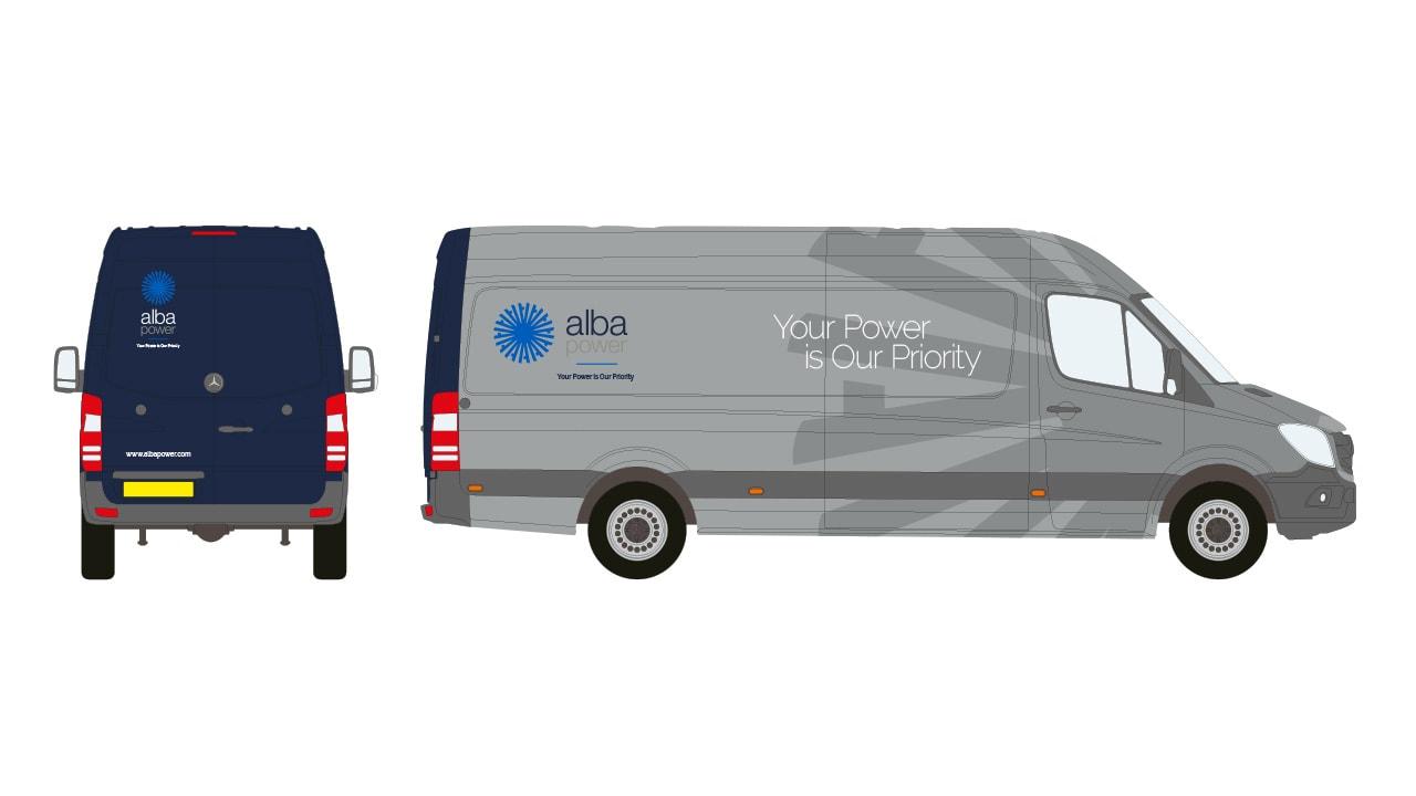 Alba Power Van Graphics