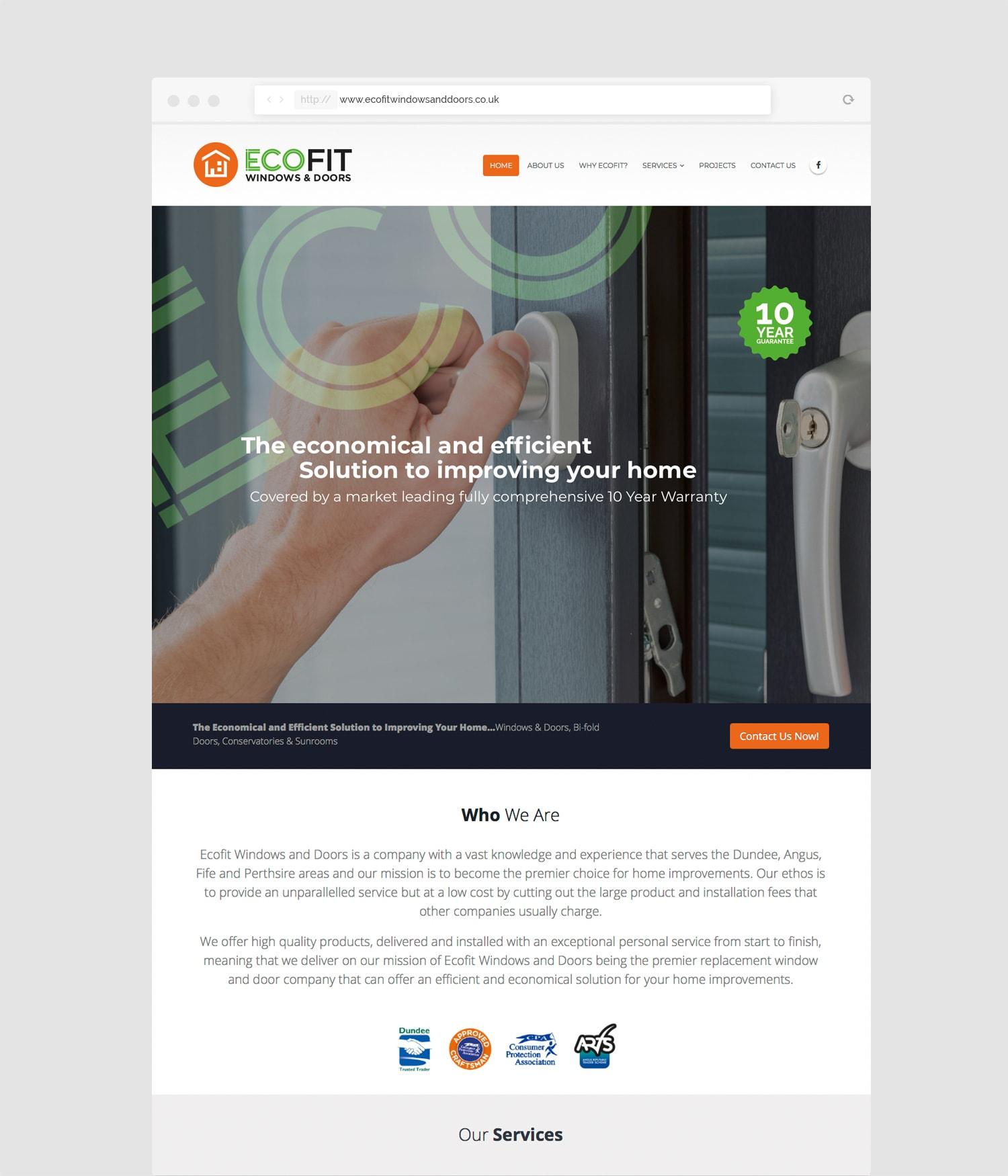 Ecofit Website Design